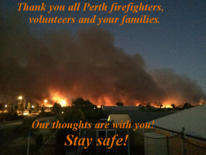 Perth bushfires, stay safe!